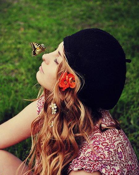 fille papillon