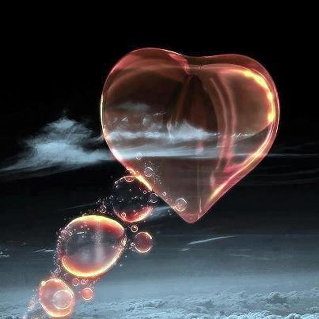 coeur bulles