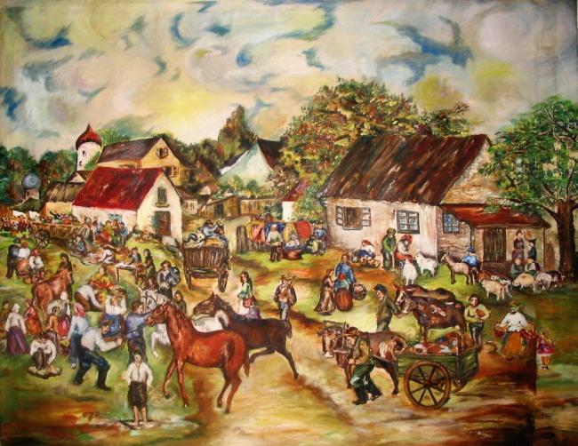 shtetl painting b