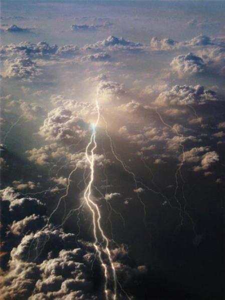 éclair nuages