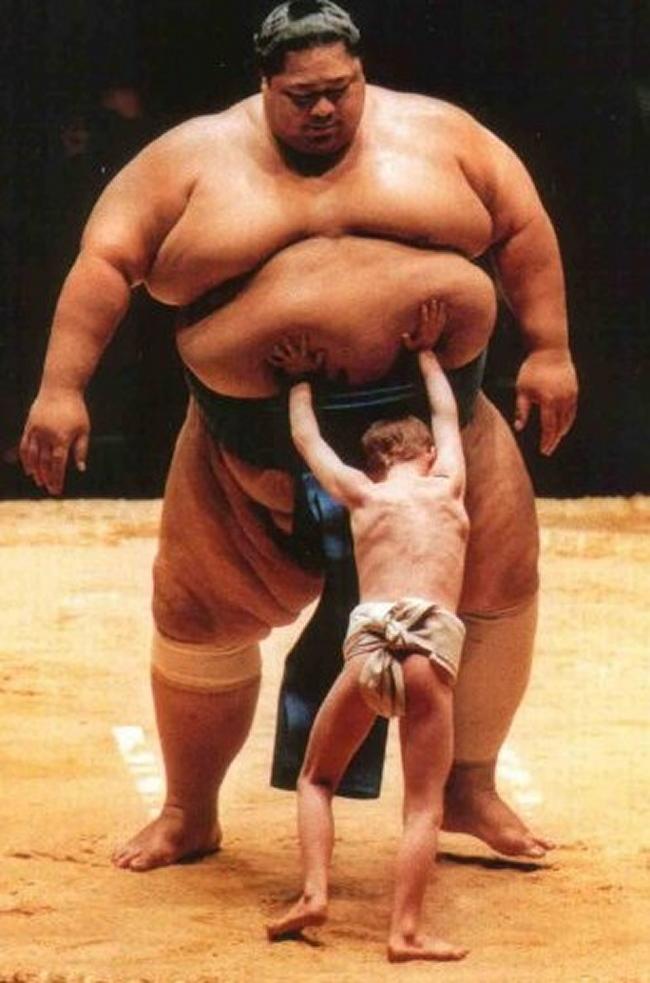Sumo et enfant