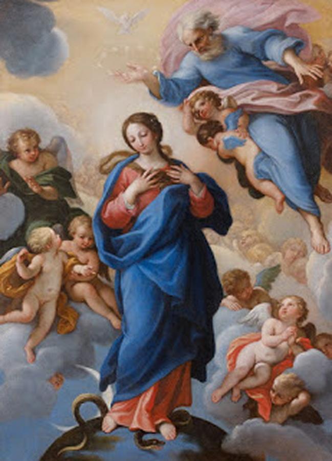 Giuseppe Bartolomeo Chiari Rome La Vierge Immaculée