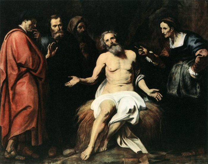 Job peinture de Gérard Seghers