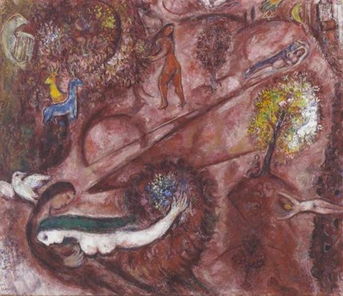 Marc Chagall Cantique-des-cantiques-I