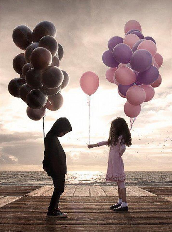 Enfants et ballons
